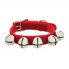 "Deck The Paws - XMAS RED VELVET COLLAR w/BELLS 5/8""x14"" - Click for more info"