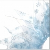 PARTY COLLAR - WINTER SNOWFLAKE White Large 35cm - Click for more info