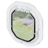 Pet-Tek GLASS FITTING DOG DOOR SLIMLINE 41.5x43cm White - Click for more info