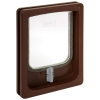 Pet-Tek WOOD FITTING CAT DOOR SLIMLINE 25x20cm Brown - Click for more info