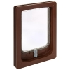 Pet-Tek WOOD FITTING SMALL DOG DOOR SLIMLINE 32.5x24cm Brown - Click for more info