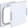Pet-Tek WOOD FITTING MEDIUM DOG DOOR SLIMLINE 40x35cm White - Click for more info