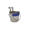 SS FLAT SIDED BUCKET PAIL 946mL - ONE HOOK - Click for more info
