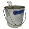 SS FLAT SIDED BUCKET PAIL 6.5Litres - TWO HOOKS - Click for more info