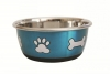 DuraPet FASHION BOWL PAW & BONE 500mL Metallic Blue - Click for more info