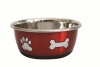 DuraPet FASHION BOWL PAW & BONE 500mL Metallic Red - Click for more info