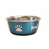 DuraPet FASHION BOWL PAW & BONE 950mL Metallic Blue - Click for more info