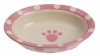 Polka Paws CAT BOWL - OVAL PINK 15cm - Click for more info