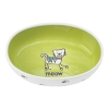 Petrageous SILLY KITTY BOWL OVAL LIME 16cm - Click for more info
