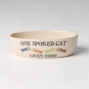 One Spoiled  Pet OVAL CAT DISH - 2 cups - Click for more info