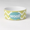 Zigazaga DOG BOWL - Woof! Lime Green 15cm, 3.5 Cups - Click for more info