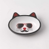 Mon Ami - OVAL PIERRE CAT BOWL Black 13cm Dia, 156ml - Click for more info
