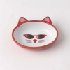 Mon Ami - OVAL GIGI CAT BOWL Red 13cm Dia, 156ml - Click for more info