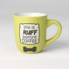 LIFE IS RUFF MUG - Lime Green 530ml - Click for more info