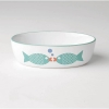 Bubble Fish OVAL PET BOWL Turquoise Shimmer 2 Cups - Click for more info