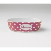 Bedazzled Meow OVAL PET BOWL Berry Shimmer 2 Cups - Click for more info