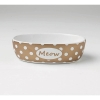 Bedazzled Meow OVAL PET BOWL Bronze Shimmer 2 Cups - Click for more info
