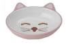 Here Kitty CAT BOWL - OVAL PINK 13cm - Click for more info