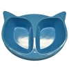Scream CAT FACE DOUBLE BOWL 2 x 350ml Loud Blue - Click for more info