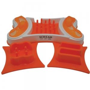 Scream 2-in-1 INTERACTIVE CAT BOWL Loud Orange 32.5x19.5cm - Click for more info