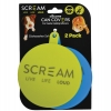 Scream SILICONE PET FOOD CAN COVER 2pk Loud Green & Blue - Click for more info