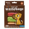 Petkin - RAINBOW MEGA-ROLL WASTEBAGS - CITRUS SCENTS 240pcs - Click for more info