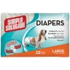 Simple Solution DISPOSABLE DIAPERS Large - 12pk - Click for more info