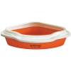 Scream CORNER LITTER TRAY Loud Orange 55x43x17cm - Click for more info