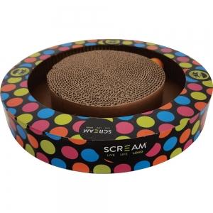 Scream ROUND PLAY CAT SCRATCHER (34x5.2cm) Loud Multicolour - Click for more info