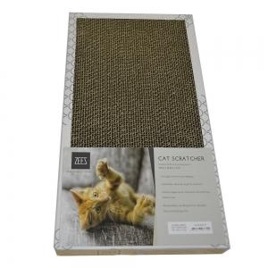 ZEEZ - DOUBLE WIDTH CARDBOARD SCRATCHER (45x23.5x4cm) White - Click for more info