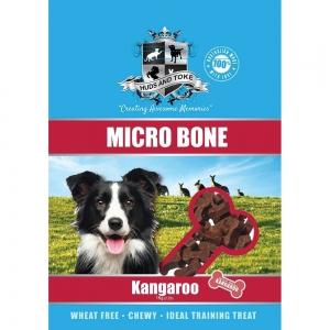 Huds and Toke - SEMI MOIST MICRO BONES KANGAROO 1kg - Click for more info