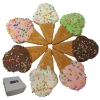Huds and Toke - ICECREAM CONE COOKIES (8cm) BULK 40pk - Click for more info