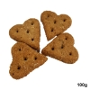 Huds and Toke HORSE LITTLE LOVE HEART COOKIES 100g - Click for more info