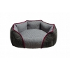 ZeeZ OVAL CUDDLER BED Grey Medium 60x50x23cm - Click for more info