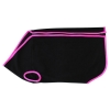 Prestige COSY-FLEECE DOG VESTL1 (38cm) Black/Hot Pink - Click for more info