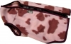 COSY-FLEECE DOG VEST S2 (19cm) Pink Cow Print - Click for more info