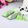 DOG FASHION MESH BOOTS - GREEN Medium (4.5x3.6cm) - Click for more info