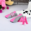 DOG FASHION MESH BOOTS - PINK Xlarge (5.9 x 4.8cm) - Click for more info