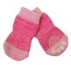 ZEEZ NON-SLIP PET SOCKS PINK Medium (3 x 7.5cm) - Click for more info