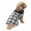 Manchester Fleece Coat Gray Plaid - L - 18-21inches - Click for more info