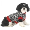 Zoe's Zebra Sweater Red - XS - 7-9inches - Click for more info