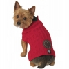 Cupid's Embossed Heart Sweater, Red - XS - 7-9inches - Click for more info