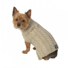 Marley's Cable Sweater, Tan - XS - 7-9inches - Click for more info