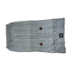 ZEEZ CABLE KNITTED SWEATER Large 39cm - Grey - Click for more info