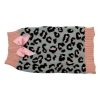 ZEEZ KNITTED SWEATER w/BOW X-Large 45cm - Grey/Pink Leopard - Click for more info