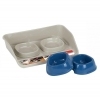 PET FEED TRAY w/2 BOWLS ( cm 68 x 55 x 17h) - Click for more info