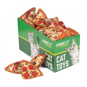 Multipet PIZZA CAT TOY Asstd. Colours PDQ 25pc - Click for more info