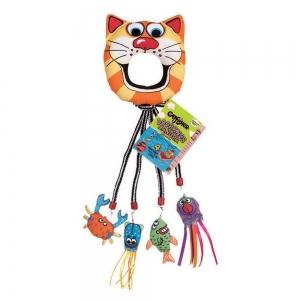 Fat Cat CATFISH DOORKNOB HANGER w/Toys - Click for more info