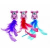 Fat Cat FLUFFY FEATHERS CAT TOY Assorted Colours 2pk - Click for more info
