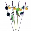 Go!Cat!Go! BALL WAND ASSORTED 45cm+58cm dangle (approx) - Click for more info